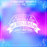 Retro Christmas Frame Royalty Free Stock Photos