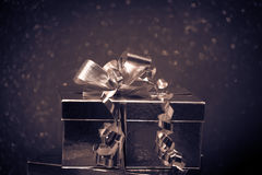 Retro Christmas Gift Royalty Free Stock Image