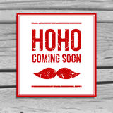 Retro christmas greeting card with santa moustache Royalty Free Stock Images