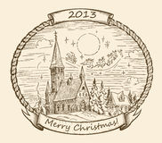 Retro Christmas Illustration Stock Images