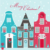 Retro Christmas Invitation Card Royalty Free Stock Images
