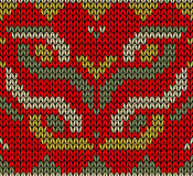 Retro Christmas knitted seamless pattern Royalty Free Stock Image