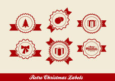 Retro Christmas Labels Stock Images