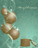 Retro Christmas (New Year) card royalty free stock photography