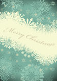 Retro  Christmas (New Year) card Stock Image