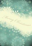 Retro Christmas (New Year) card Stock Image