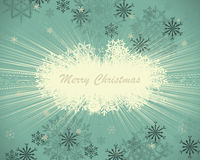Retro Christmas (New Year) card Royalty Free Stock Image