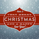 Retro Christmas and New Year Greeting Royalty Free Stock Image