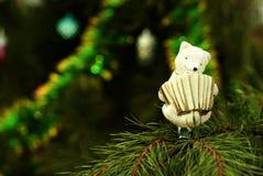 Retro Christmas ornament - bear-harmonizer Stock Images