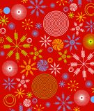 Retro Christmas Paper Wrap 1 royalty free illustration