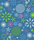 Retro Christmas Paper Wrap 2 Royalty Free Stock Image