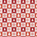 Retro Christmas pattern Royalty Free Stock Photos