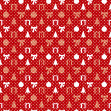 Retro Christmas pattern Stock Photos