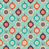 Retro Christmas pattern Stock Photography