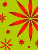 Retro Christmas Poinsettia Background Stock Photography