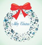 Retro Christmas postcard Stock Photos