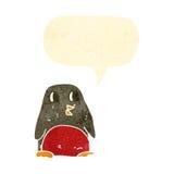 retro christmas robin cartoon character Royalty Free Stock Photos