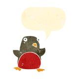 retro christmas robin cartoon character Stock Photography