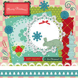 Retro Christmas scrapbook Stock Images