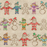 Retro Christmas seamless pattern Royalty Free Stock Photography
