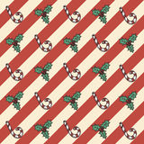 Retro Christmas seamless pattern Royalty Free Stock Photos