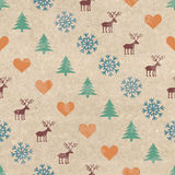 Retro Christmas seamless pattern Stock Photo