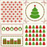Retro christmas set. Stock Photos