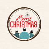 Retro Christmas Sign Royalty Free Stock Photography
