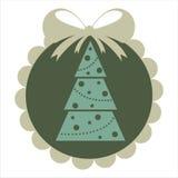 Retro christmas sticker Royalty Free Stock Image