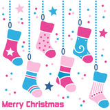 Retro Christmas Stockings Royalty Free Stock Images