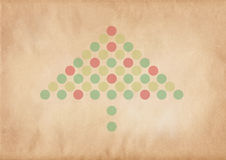 Retro christmas tree. On a grungy brown background stock illustration
