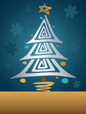 Retro Christmas Tree Royalty Free Stock Photos
