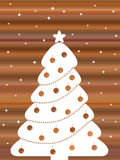Retro Christmas tree Royalty Free Stock Images