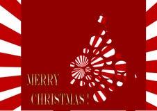 Retro christmas tree. Retro ppop circles christmas tree Stock Photos