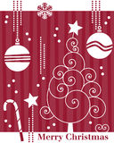 Retro Christmas Tree Card [1] Royalty Free Stock Photos