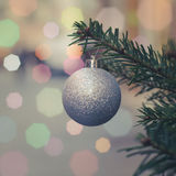 Retro Christmas Tree Decoration Stock Image