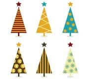 Retro christmas tree elements vector illustration