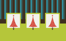 Retro Christmas Trees. Christmas Tree and colour background Royalty Free Stock Photography