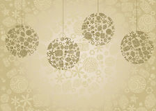 Retro christmas. Vintage background with Christmas balls. Vector illustration Stock Images
