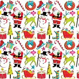 Retro Christmas Wallpaper stock illustration