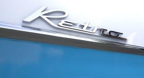Retro Chrome Car Emblem Stock Images