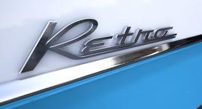 Retro Chrome Car Emblem Stock Photos