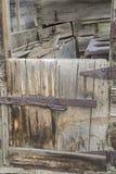 Retro chuckwagon drewniany drzwi Fotografia Royalty Free