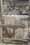 Retro chuckwagon wooden doorway Royalty Free Stock Photography