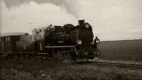 Retro ciclo del treno a vapore video d archivio