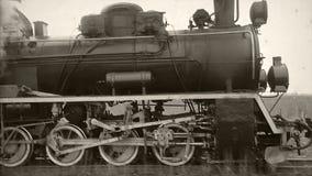 Retro ciclo del treno a vapore archivi video