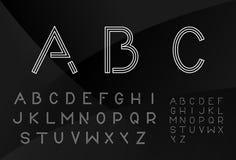 Retro cienkiej linii typeface Zdjęcia Royalty Free