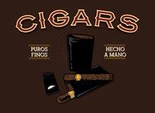 Retro Cigar Ad Stock Photos