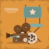Retro cine design, Vector illustration Royalty Free Stock Image