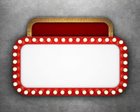 Retro cinema banner on concrete wall Royalty Free Stock Images